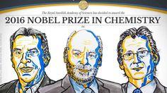 Trio divide Nobel de Química por criação de máquinas moleculares