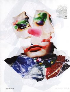Codie Young | Ben Hassett #photography | Vogue Russia September 2012 #collage