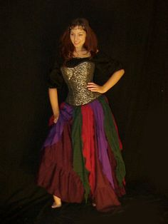 Q ~ RENAISSANCE Belly Dance Pirate Gypsy Fairy Wench Costume Petal SKIRT | eBay