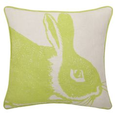 Bunny Linen Throw Pillow