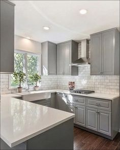 Small Kitchen Remodel Before and After Small Kitche. Small Kitchen Remodel Before and After Small Kitchen Remodel Before and After ~ Kitchen Cabinet Styles, Farmhouse Kitchen Cabinets, Farmhouse Style Kitchen, Kitchen Redo, Home Decor Kitchen, Kitchen Layout, Kitchen Styling, New Kitchen, Home Kitchens