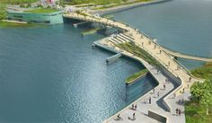 Providence River Pedestrian and Cyclist Bridge Competition Winner / inFORM Studio (1)