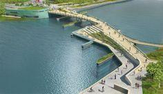 Providence River Pedestrian and Cyclist Bridge Competition Winner / inFORM Studio (1)