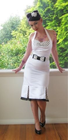 Pinup wiggle vintage|50s wedding dress