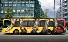 creative zoo ad on a bus