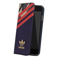 adidas Originals (アディダス オリジナルス) iPhone6/iPhone6s カードポケット付 手帳型ケース 21382 (グリーンカモ)