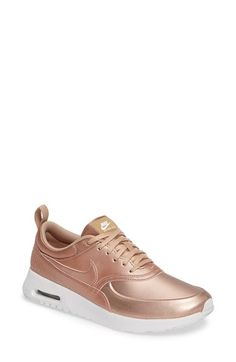 Free shipping and returns on Nike Air Max Thea SE Sneaker (Women) at Nordstrom.com. Crafted for comfort with a minimalist profile, this lightweight sneaker features a breathable perforated heel, a generously cushioned footbed and a visible Air-Max unit in the sole.