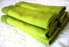 Vintage Lime Green Cloth Napkins, Set of Six Cotton Napkins, Cloth Napkins, Napkins Set, 50 Shades, Shades Of Green, Eclectic Decor, My Favorite Color, Green Colors, Shabby Chic