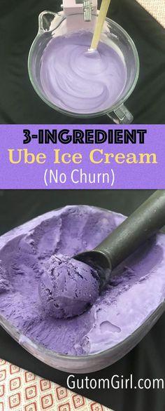 3-Ingredient Ube Ice Cream