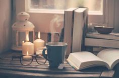 Still life of used books, tea time, glasses and candles on a wood table. by BONNINSTUDIO - Stocksy United Luxury Candles, Coffee And Books, Luxury Holidays, Book Photography, Love Book, Wood Table, Book Lovers, Coffee Lovers, Book Worms