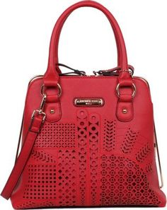 Nicole Lee Sophia Laser Cut Frame Bag Red - via eBags.com!