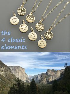 Nature is beautiful, magical and powerful, the classic 4 elements represent the mystical inner workings of the cosmos. Discover the power of each element. This necklace set is the perfect gift for any nature enthusiast.