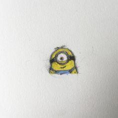 STUART the minion. Despicable me week. 183/365. #stuart #minion #minions #despicableme #sketch #draw #doodle #sketching #sketchbook #doodling #drawing #character #creepy #creative #creature #fun #paper #pencil #photo #picture #illustrator #illustration #unique #iainwhocantdraw #artwork #scotland #glasgow by iainwhocantsleep: