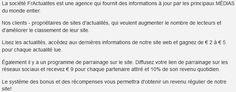 FrActualites.com | a propos de la societe Job, Site Web, Earning Money, I Want You