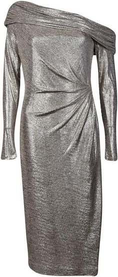 Browse Sale Online ruched plunge dress - Metallic PatBo Latest Collections Sale Online Many Kinds Of For Cheap Discount Latest Collections Cheap Online MKf1wR7kX