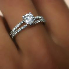 Diamond Engagement Ring White Gold or Yellow Gold by ldiamonds