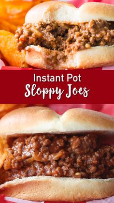 Instant Pot Sloppy Joes The big gooey messy burger, also known as a sloppy joe! So easy, so deliciou Gluten Free Sloppy Joe Recipe, Sloppy Joes Recipe, Sloppy Joe Recipe Pioneer Woman, Sloppy Joe Recipe Crock Pot, Slow Cooker Sloppy Joes, Meat Recipes, Crockpot Recipes, Cooking Recipes, Italian Beef Recipes