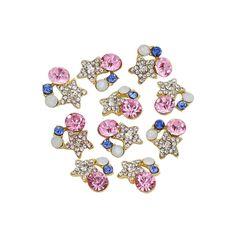 ราคาถูก ไม่แพง พร้อมส่งถึงบ้าน Bluelans 3D Alloy Rhinestones Nail Art Glitters Sticker Bling Tips DIY 10Pcs คุณภาพดี ราคาถูก สั่งซื้อออนไลน์ได้