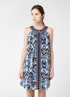 Vestido malha mensagem - Vestidos - Mulher - MANGO 29,90€