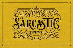 Sarcastic Typeface + Extras by Graptail on @creativemarket