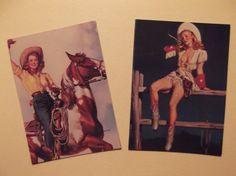 PINUP COWGIRLS MAGNETS Gil Elvgren PinUp Girls by VintageAdGallery