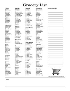 Master Grocery List | Organization | Pinterest | Organizations ...