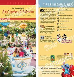 Custom Disney Parks GuideMap Wedding Programs  Invitations Save the Date