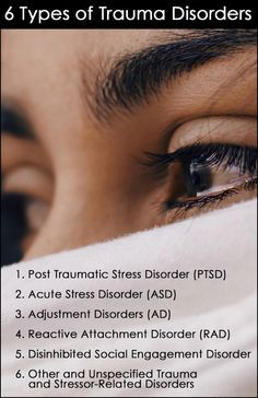 6 Types of Trauma Disorders Mental Health Disorders, Stress Disorders, Mental Health Issues, Behavioral Issues, Cognitive Behavioral Therapy, Reactive Attachment Disorder, Acute Stress, Adverse Childhood Experiences, Trauma Therapy