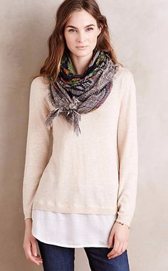 Layered Duet Pullover #anthroregistry