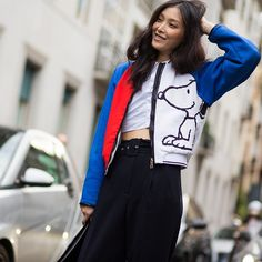Sung Hee • by #danielbrunograndl full look now online on:  www.theurbanspotter.com  @kimssung2 #sungheekim #milan #streetfashion #streetstyle #fashion #style #mode seen by #theurbanspotter #Padgram