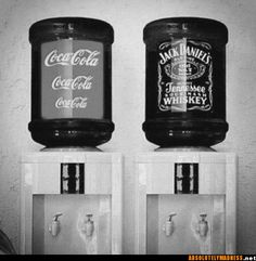 yes please jd and cola in giant water fountains