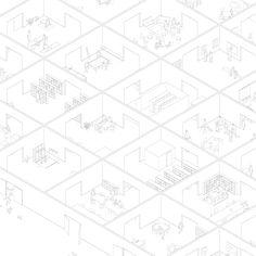 Axonometric | architecture | Fala atelier - Reinos cultural centre Tropical Interior, Modern Interior, Plan Drawing, Drawing Sketches, Architecture Drawings, Architecture Design, Axonometric Drawing, Cultural Center, Board Games