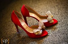 elegant red wedding shoes with gold bows wedding idea planner red wedding shoes with bows Shoe Boots, Ankle Boots, Shoes Heels, Stiletto Heels, Cute Shoes, Me Too Shoes, Red Wedding Shoes, Wedding Bride, Wedding Blog
