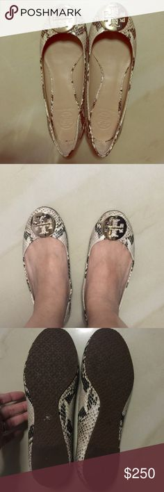 Tory Burch Flats Authentic Tory Flats! Comes in original box. Worn once. Great condition. No signs of wear. trade Willing to go lower if the offer is right! Tory Burch Shoes Flats & Loafers