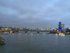 London, river Thames, view from a bridge