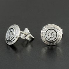 Compatible with fits fashion earrings round with logo