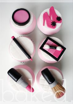 Makeup Themed Cupcakes