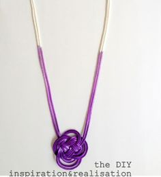 Dip Dyed Knot Necklace