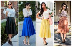 Mulherzinha Feminina: Tá na moda: Saia Midi