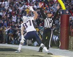 Gronk! - celebrating a touchdown against the Washington Redskins - Sun, Dec 11, 2011