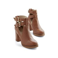 Seychelles Boho Maximum Heel (130 BAM) ❤ liked on Polyvore featuring shoes, boots, ankle booties, heels, ankle boots, sapatos, boot - bootie, bootie, heeled bootie and tan
