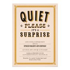 Quiet Vintage Surprise Party Invitations