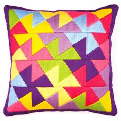 Vervaco Long Stitch Cushion Kit PN-0147911 Triangles