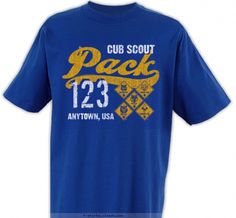 Cub Scout Pack Shirt T-shirt Design - Looks even better on a navy tee