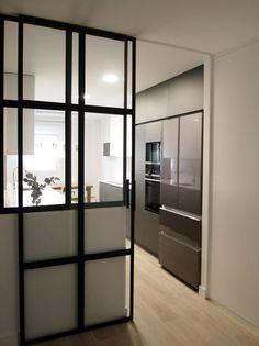 Patio Interior, Interior Design, Condo Design, Glass Partition, Modern Kitchen Design, My House, Sweet Home, Furniture, Home Decor