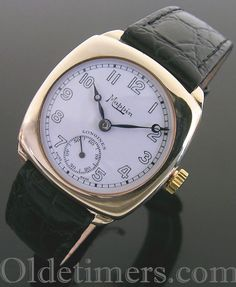 A 9ct gold cushion vintage Longines watch, retailed by Mappin, 1946