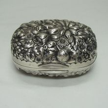 Gorham Sterling Silver Repousse Soap Box