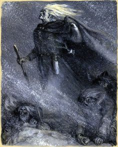 Kalevala illustrations by Nicolai Kochergin | Nicolai Kochergin - Vainamoinen Seeks the Beauty of Pohjola ...