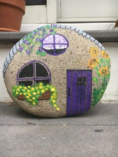 Easy Paint Rock For Try at Home (Stone Art & Rock Painting Rock Painting Patterns, Rock Painting Ideas Easy, Rock Painting Designs, Painting For Kids, Paint Designs, House Painting, Garden Painting, Pebble Painting, Pebble Art