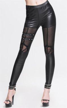 Gothic Spider Web Lace Window Leggings Women s Leggings c83de89b2